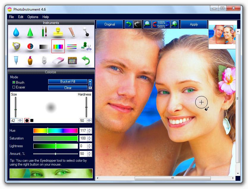 Screenshot of PhotoInstrument